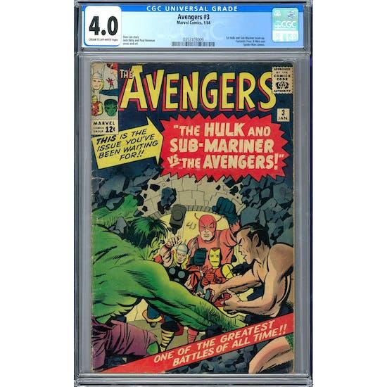 Avengers #3 CGC 4.0 (C-OW) *0353103009*