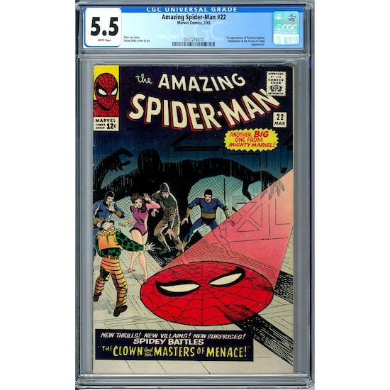 Amazing Spider-Man #22 CGC 5.5 (W) *0357216010*
