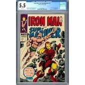 Iron Man and Sub-Mariner #1 CGC 5.5 (W) *0357224017*