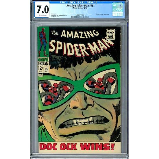 Amazing Spider-Man #55 CGC 7.0 (W) *0358577003*