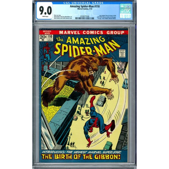 Amazing Spider-Man #110 CGC 9.0 (W) *0358577008*