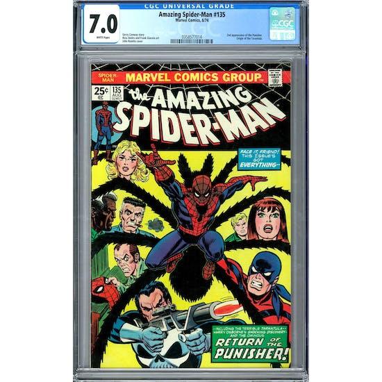 Amazing Spider-Man #135 CGC 7.0 (W) *0358577014*