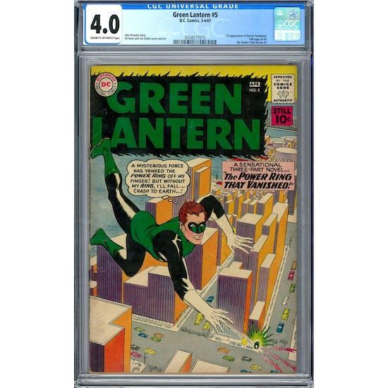 Green Lantern #5 CGC 4.0 (C-OW) *0358577015*