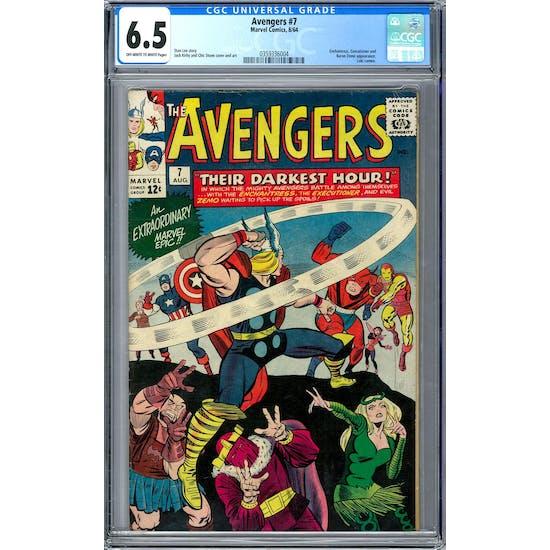 Avengers #7 CGC 6.5 (OW-W) *0359336004*