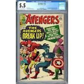 Avengers #10 CGC 5.5 (OW-W) *0359336005*