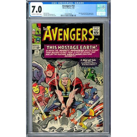 Avengers #12 CGC 7.0 (OW-W) *0359336006*
