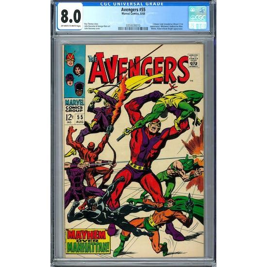 Avengers #55 CGC 8.0 (OW-W) *0359336010*