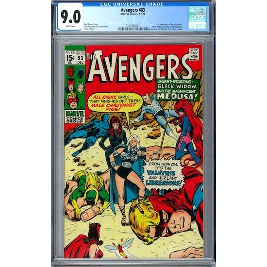 Avengers #83 CGC 9.0 (W) *0359336012*