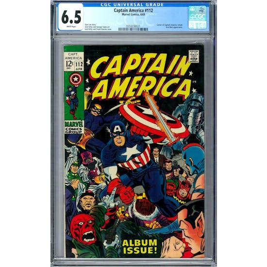 Captain America #112 CGC 6.5 (W) *0359336021*