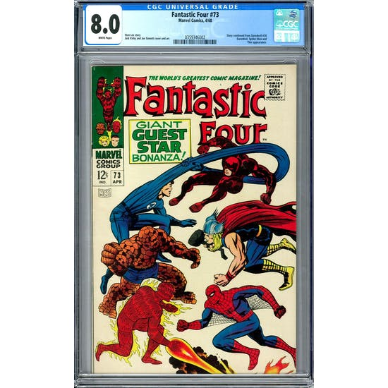 Fantastic Four #73 CGC 8.0 (W) *0359346002*