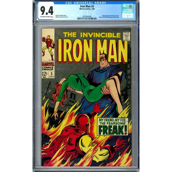 Iron Man #3 CGC 9.4 (OW-W) *0359346006*
