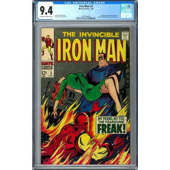 Iron Man #3 CGC 9.4 (OW-W) *0359346006*