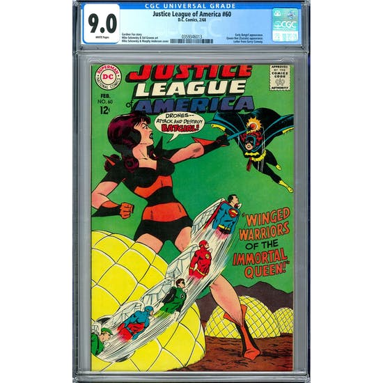 Justice League of America #60 CGC 9.0 (W) *0359346013*