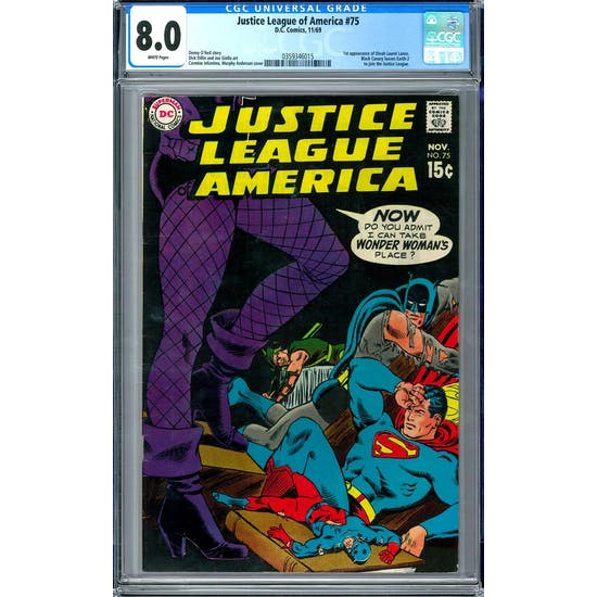 Justice League of America #75 CGC 8.0 (W) *0359346015*