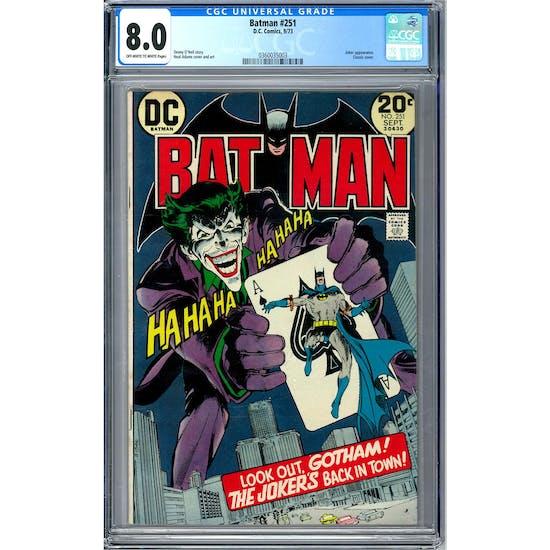 Batman #251 CGC 8.0 (OW-W) *0360035003*