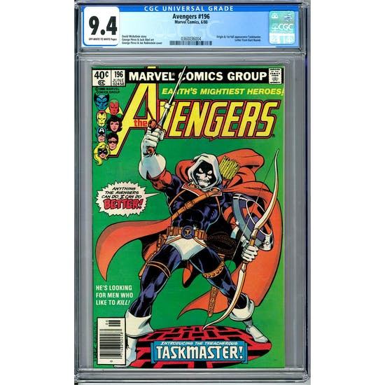 Avengers #196 CGC 9.4 (OW-W) *0360036004*
