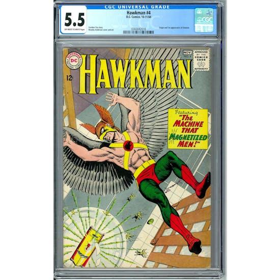 Hawkman #4 CGC 5.5 (OW-W) *0360042018*