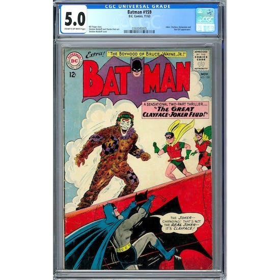 Batman #159 CGC 5.0 (C-OW) *0360043005*