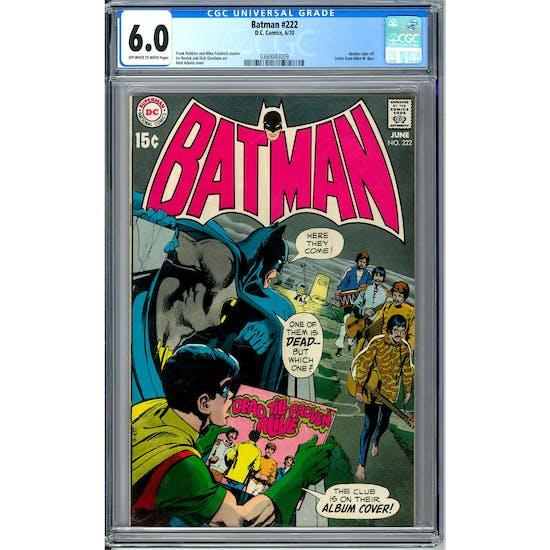 Batman #222 CGC 6.0 (OW-W) *0360043009*