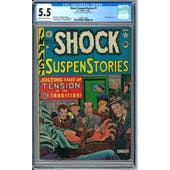 Shock SuspenStories #1 CGC 5.5 (C-OW) *0360316005*