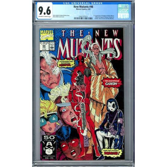 New Mutants #98 CGC 9.6 (OW-W) *0360707015*