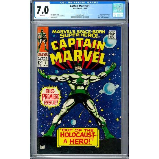 Captain Marvel #1 CGC 7.0 (W) *0361371003*