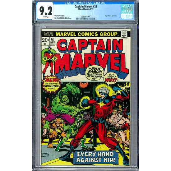 Captain Marvel #25 CGC 9.2 (W) *0361371004*