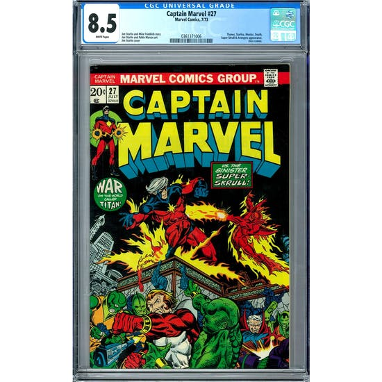 Captain Marvel #27 CGC 8.5 (W) *0361371006*