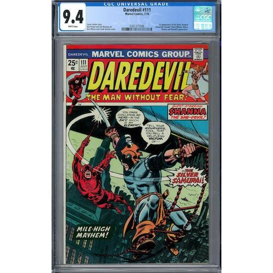 Daredevil #111 CGC 9.4 (W) *0361371008*