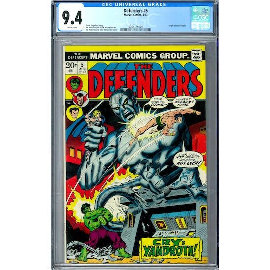Defenders #5 CGC 9.4 (W) *0361371009*