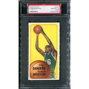 1970/71 Topps Basketball #163 Tom Sanders PSA 8 (NM-MT) (PD) *4020