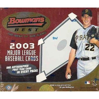 2003 Bowman's Best Baseball Hobby Box