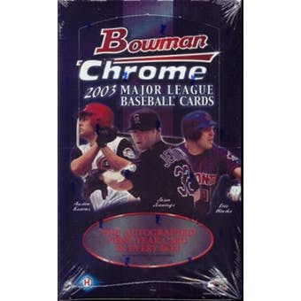 2003 Bowman Chrome Baseball Hobby Box