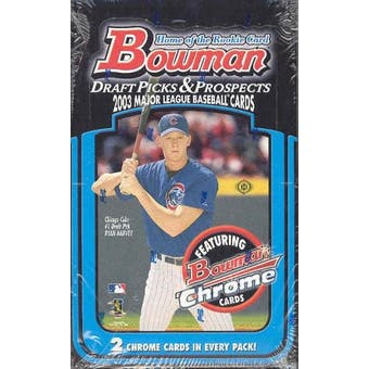 2003 Bowman Draft Picks & Prospects Baseball Hobby Box