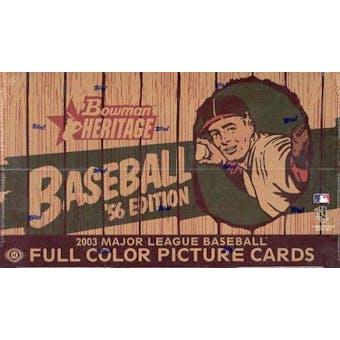2003 Bowman Heritage Baseball Hobby Box (Reed Buy)