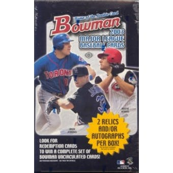 2003 Bowman Baseball Hobby Box