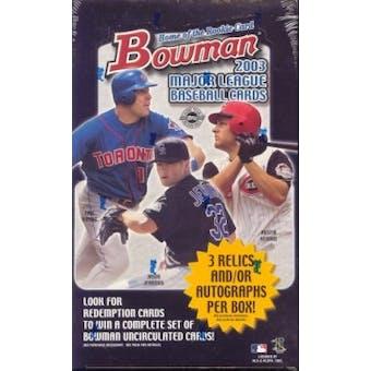 2003 Bowman Baseball Jumbo Box