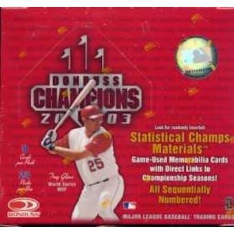 2003 Donruss Champions Baseball Hobby Box