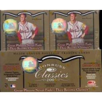 2003 Donruss Classics Baseball Hobby Box