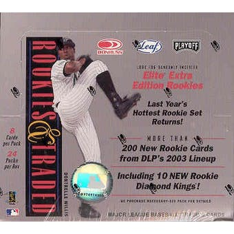 2003 Donruss Leaf Playoff Rookies & Traded Baseball Hobby Box