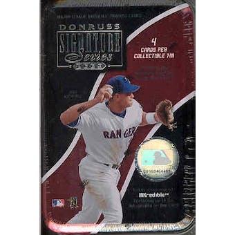 2003 Donruss Signature Series Baseball Hobby Tin (box)
