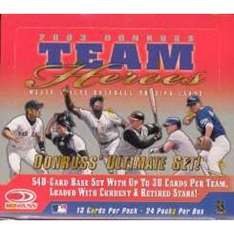 2003 Donruss Team Heroes Baseball Hobby Box