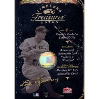 2003 Donruss Timeless Treasures Baseball Hobby Box (Tin)