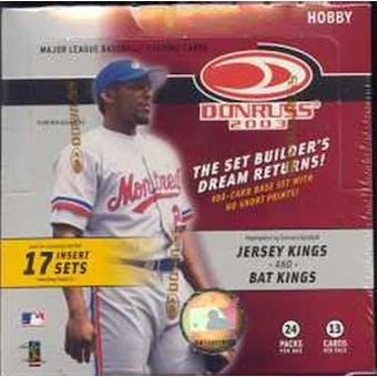 2003 Donruss Baseball Hobby Box