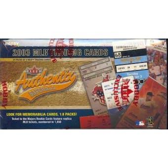 2003 Fleer Authentix Baseball Hobby Box