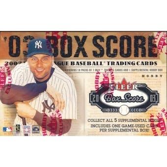 2003 Fleer Box Score Baseball Hobby Box