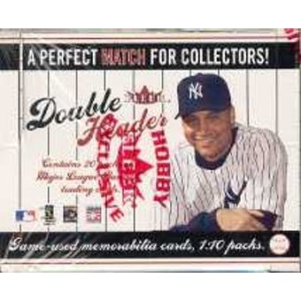 2003 Fleer Double Header Baseball Hobby Box