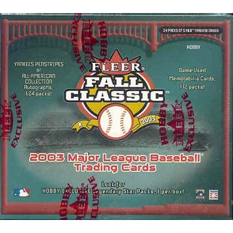 2003 Fleer Fall Classic Baseball Hobby Box