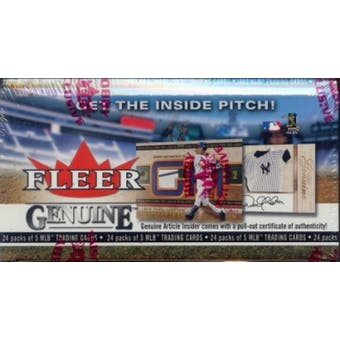2003 Fleer Genuine Baseball Hobby Box
