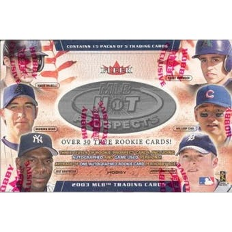 2003 Fleer Hot Prospects Baseball Hobby Box